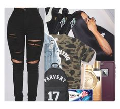 """""""Untitled #141"""" by w-on-der-lan-d ❤ liked on Polyvore featuring Puma, LifeProof, Michael Kors, Hoorsenbuhs, A BATHING APE, Givenchy, casual, backpack, chill and ripped"""