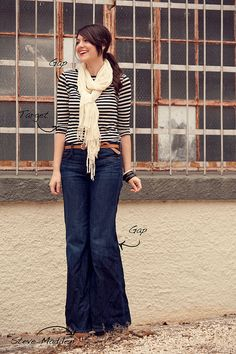 why do I love stripes so much...even tho I know how unflattering they are ..and. again with the high waisted jeans...<3 it!