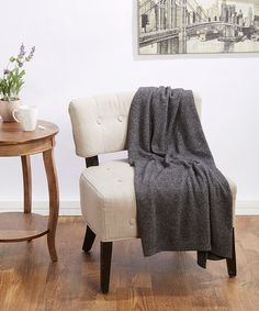 Charcoal Cashmere Luxury Throw