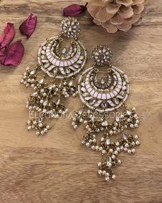 Chandbalis in pastel pink. Pastel Pink, Fashion Accessories, Womens Fashion, Earrings, Jewelry, Jewellery Making, Jewels, Women's Fashion, Ear Piercings