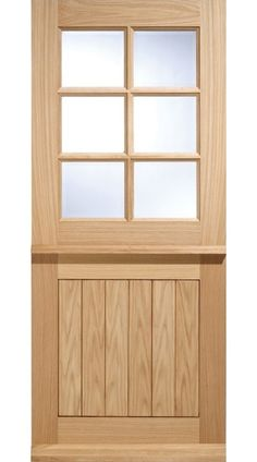 This traditionally designed Cottage Stable 6 Light double glazed door is a popular design, adding charm and character to country properties, cottages and more contemporary dwellings alike. The six panel style incorporates 6 clear glazed panels tha Glazed External Doors, External Wooden Doors, Wooden Sliding Doors, Wood Front Doors, Wooden Garage Doors, Cottage Style Front Doors, Cottage Door, Traditional Front Doors, Johnson House