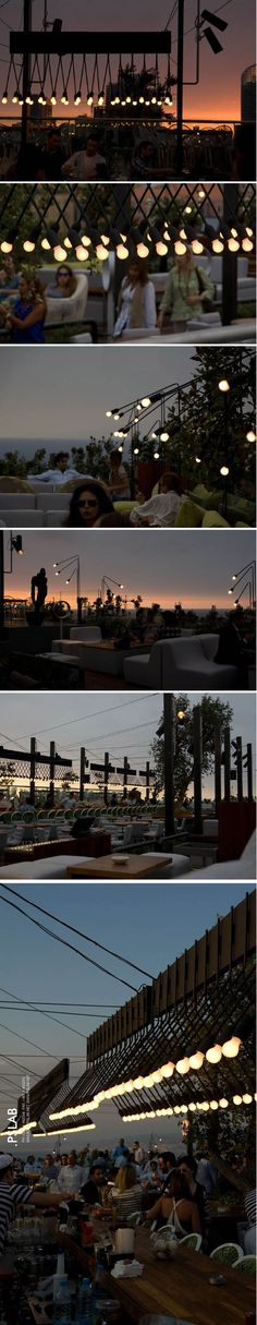 Benedicte Flouriot is a blog buddy in Beirut. PSLab is a bespoke lighting laboratory doing fabulous things with illumination. I love the look of their make over of, Isis, one of the cities oldest rooftop bars