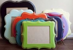 @Jennifer Stahl A Cheap alternative to Organic Bloom frames. You just have to paint them yourself!