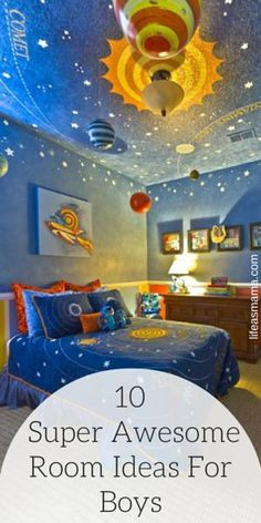 Here are 10 super awesome rooms for boys that we would have gone crazy for when we were young!