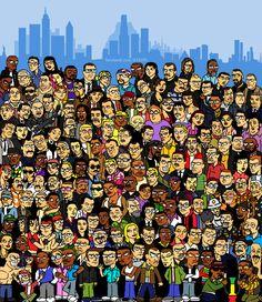 Grand Theft Auto Characters - Fan Art by Eduardo Favaro - MS Paint