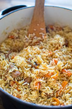 This is a classic recipe for a loved-by-everyone Uzbek Plov, also called Pilaf…