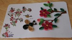 quilled spring blossoms