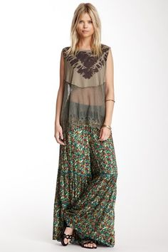Vintage Floral Wide Leg Pant by Free People on @HauteLook