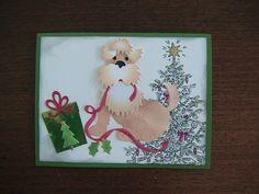 Cottage Cutz puppy with ribbon die