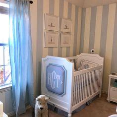 Monogrammed Crib