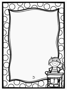 Border Clipart For Kids Black And White Page Borders Design, Border Design, Borders For Paper, Borders And Frames, Kids Writing, Writing Paper, Contour Images, School Border, School Frame