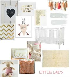 pink & gold nursery inspiration