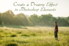 How to create a dreamy effect in Photoshop or PSE via @amandapadgett