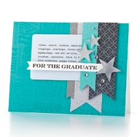 For the Graduate Card. SO cute! I love the stars, and the large sentiment in the back. great focal point with the main senti up front!