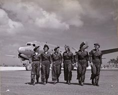 Navy Flight nurses on Guam, April 1945 ~