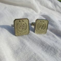 United Nations UN New York Cuff Links    by DresdenCreations, $14.00