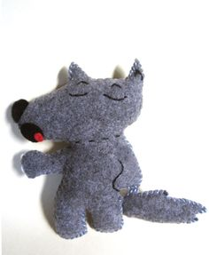 Story Telling Prop  Big Bad Wolf Felt Plushie Two  by artsymommas, $16.00