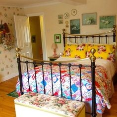 #lifeatapplecottage love this quilt  perfect for vintage style bedroom and curling up on cosy winter evenings with a cuppa and a good book :-)