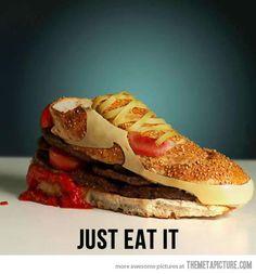 Hamburger shoes…