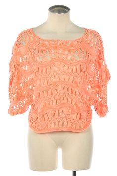 Neon Crochet Knit Top $34.73