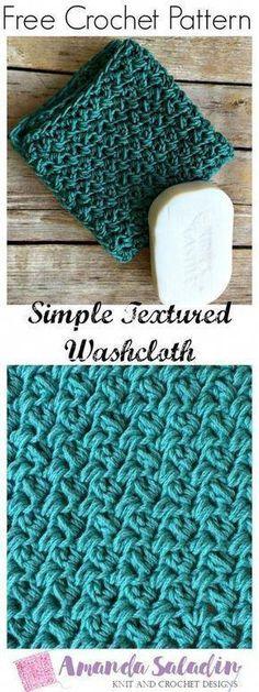 29 Ideas crochet dishcloth patterns free stitches for 2019 Crochet Stitches Patterns, Crochet Designs, Stitch Patterns, Crochet Dishcloths Free Patterns, Knitting Patterns, Wash Cloth Crochet Pattern, Knitting Tutorials, Knit Stitches, Crochet Video