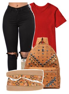 """ On a mountain high up with my main thing she keep me grounded "" by mindlesspolyvore ❤ liked on Polyvore featuring Michael Kors, MCM and Puma"