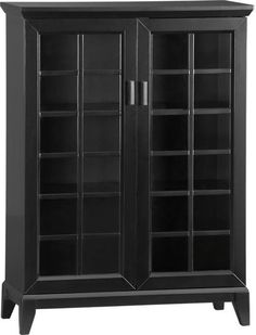 For home office - black and glass bookshelf