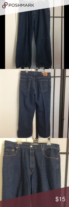 Men's Levis Strauss & Co (jeans) Brand new, didn't fit my husband so here they are, for the man in your life, or you- nice denim blue color.. Levi's Jeans Flare & Wide Leg