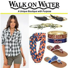 #BackToSchool with #WalkOnWater #JuniorFAshion #CollegeFashion #UFShoes #FSUShoes…