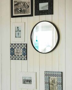A stylish large round black contemporary wall mirror with a minimal metal frame. With elegant modern styling, this mirror works well anywhere in the home.