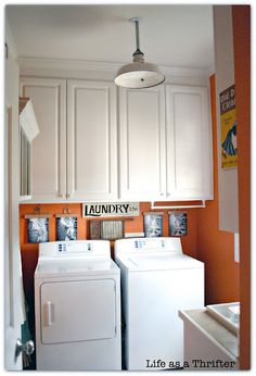 I want an orange laundry room!