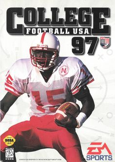 College Football USA '97 [Sega Gensis] -  On the cover, Tommie Frazier - Nebraska Cornhuskers