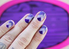 DIY chevron print nails