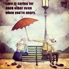 本当の愛は、怒っていてもお互いを大切にするものである。