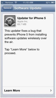 How to update the iPhone 5 to iOS 6.0.1