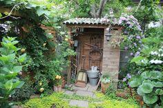 Arbour, Sheds, Garden Inspiration, Terrace, Garden Design, Yard, Cottage, Exterior, Outdoor Structures