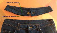 Tuto Transformer la taille basse d'un jean en taille haute - Nine Couture