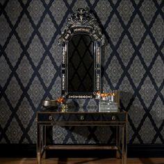 Julian McDonald  Jewel Black & Gold Wallpaper