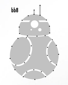 bb8 Template for Star Wars String Art from One Project Closer