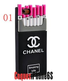 coque iPhone 6/6s /iphone 6 Plus/6s Plus 5/5s Housse Chanel Cigarette Style Original Silicone