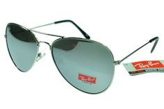 Ray-Ban Aviator 3026 Black Silver Frame Silver Frame RB51