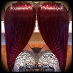 Cherry coke colored hair