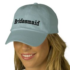 Bridesmaid Embroidered Hats
