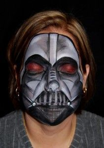 face paint darth vader - Google Search