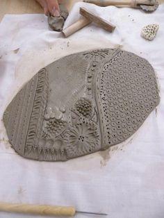 Cell inspired ceramic tile