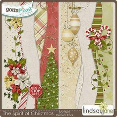 The Spirit of Christmas Borders :: Gotta Pixel Digital Scrapbook Store  $2.00