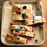 Berry Slab Pie - dust it with powdered sugar for a sweet treat!!