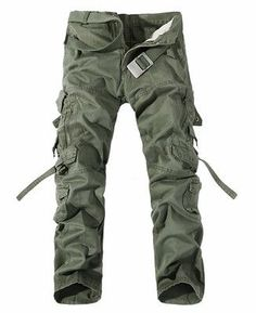de7f2758a1c6 2017 New Men Cargo Pants army green big pockets decoration mens Casual  trousers easy wash male