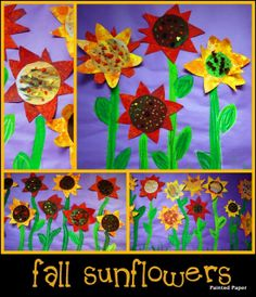 Fall Sunflowers by Laura from Painted Paper at PreK + K Sharing