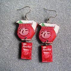Kool Aid Pitcher Strawberry Drink Mix Retro Kitsch by craftymule, $18.00